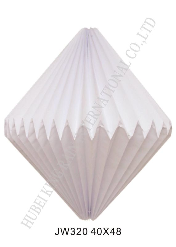 Popular Folded Paper Lampshade Lantern For Room Lights Origami Pendant Light