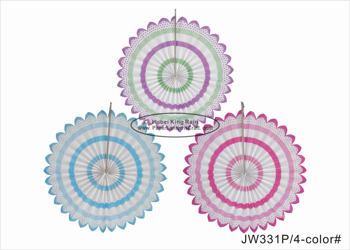 Strong Wave Fiesta Hanging Paper Fan Decorations For Valentines Day Gift