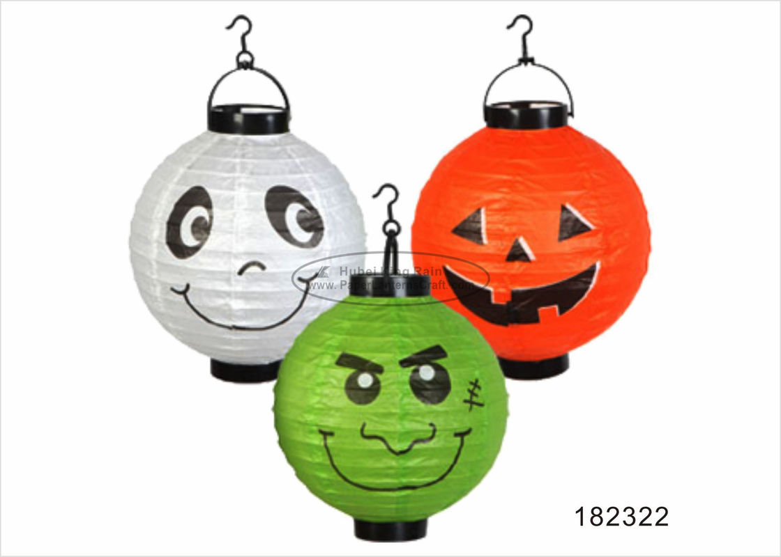 Green Ghost  Led Halloween Paper Lantern Craft Colored Type Biodegradable
