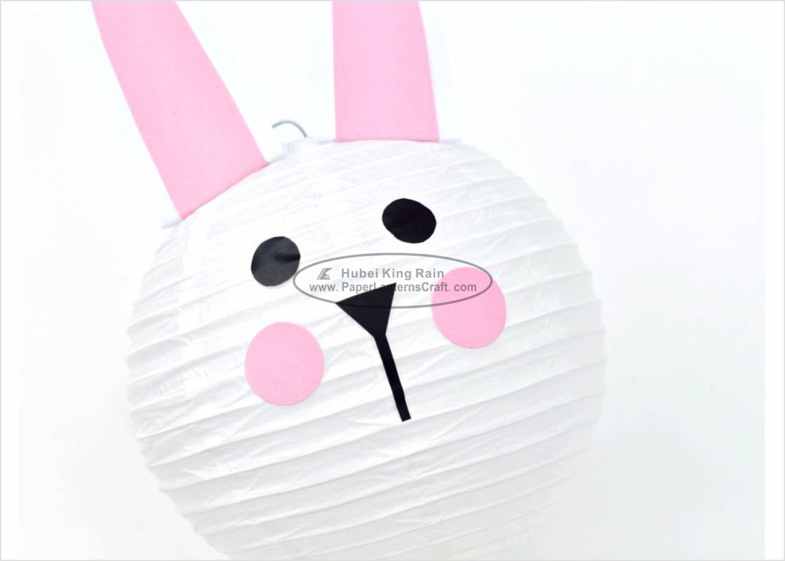 Handmade Hanging Rabbit Paper Lantern Decorations 35cm For Kids Park