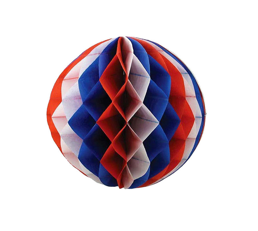 Multicolor Paper Honeycomb Balls , Foldable Honeycomb Pom Pom Decorations