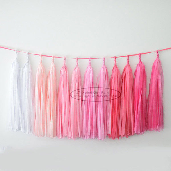 Various Lengths Colorful Tissue Paper Tassel Garland Decoration